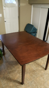 Brown Wooden Dining Table