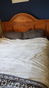 Solid Pine Queen Size Bed Frame (Matress not Included)