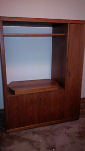 Teak TV and music entertainment cabinets