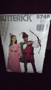Robin Hood & Maid Marion Butterick Sewing pattern