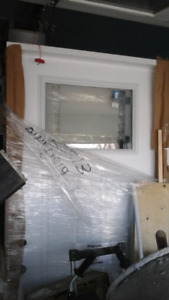 New premium insulated entry door with nice glass PVC frame paint
