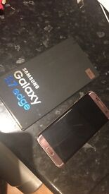 Samsung Galaxy S7 Edge in Pink Gold
