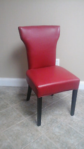 Red Faux Leather Chair