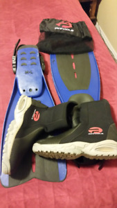 Size M/L Fins and Boota