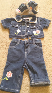 Girls jeans  suit  18 m.
