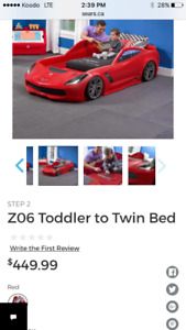 Toddler car bed
