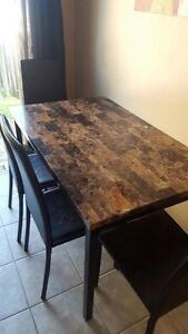 Imitation marble table with chairs
