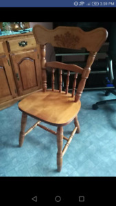 5 Hardwood chairs for sale $100 Firm