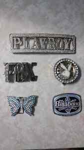 Belt and belt buckles  (FOX, billabong, playboy, butterfly)