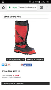 Baffin 3 Pin Guide Pro Boots Size 10 Mens