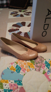 Socarras Beige Wedge Shoes