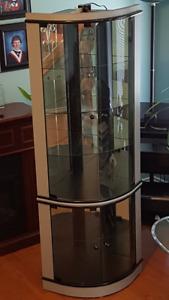 Corner style china cabinet