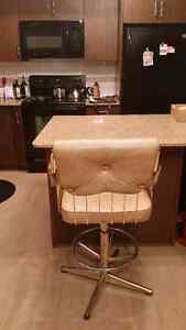 Swivel Bar Stool With Soft Leather Cushioning Edmonton Edmonton Area image 1