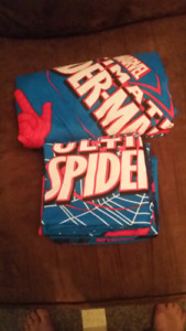 Double Spiderman bed set