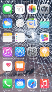 Cracked screen iPhone repair. We drive to you!