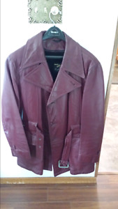 EUC leather coat