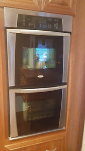 Whirlpool double wall oven as is