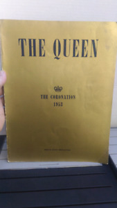 THE QUEEN CORONATION BOOK FROM 1953 ENGLAND
