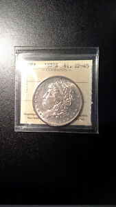 1878S USA Morgan Silver Dollar ICCS Graded EF45
