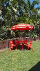 Coca Cola Table, Chairs and Umbrella Idalia Townsville City Preview