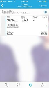 Tegan and Sara ticket for sale