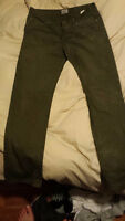 Naked & Famous Weird Guy jeans sz34 Green