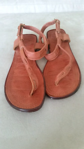Brown Leather Women's Sandals