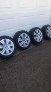 BMW rims,covers, and tires