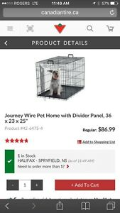"""Pet Home with divider panel.  36x23x25"""""""