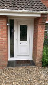 UPVC Door and Side Panel Used