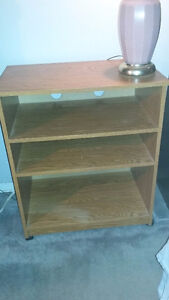 Solid Cabinet / TV Stand with Wheels