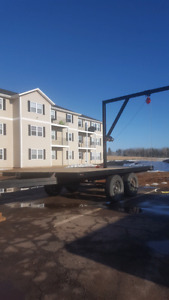 12x8 7000lb trailer with removable swivel boom