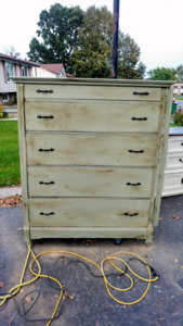Square nails, buttefly hinges, means over 125 years old Dresser