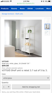Brand new Ikea Vittsjo glass unit