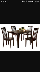 Ashley 5 piece table and chairs