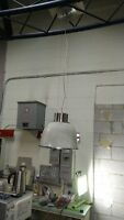 8 RETRO INDUSTRIAL PENDANT LAMP GLASS & STAINLESS