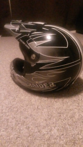 Black And Grey Motocross Helmet