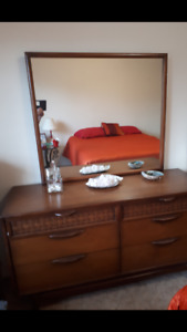 Vintage solid teak bedroom suite