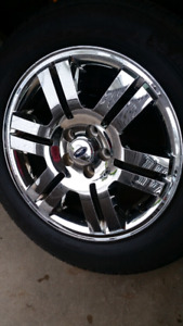"""FORD 18"""" ALLOYS AND MICHELIN TIRES SIZE 235 69 18"""