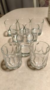8 COLLECTABLE BAR GLASSES 6 JACK DANIEL'S  2 CROWN ROYAL