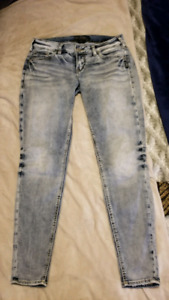 Women's Silver Jeans Aiko Mid Super Skinny Size W28/L29