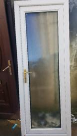 White upvc external door size h 79 3/4in w 29 1/2in