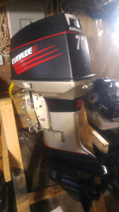 1977 evinrude 70hp outboard all redone
