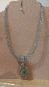 """Handcrafted """"Dragon Eye"""" Viking Knit Necklace -One Of A Kind"""