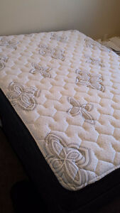 QUEEN MATTRESS+BOX SP+FR+PROTECTOR,/ MUST SELL TODAY