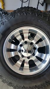 4 NEW PANTHER RIMS WITH FIERCE ATTITUDE TIRES LT285/70/17