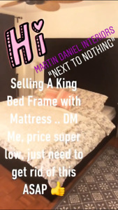 King Bed Frame With Mattress