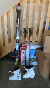 Fischer skis, poles and boots for sale!