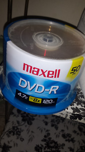 Brand New Pack of 50 Maxell Dvd-R