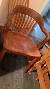 Chair---- solid wood older pub chair
